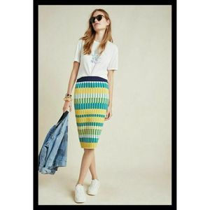 Anthro Current Air Ezra Abstract Knit Pencil Skirt